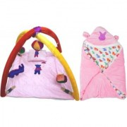 BABY BEDDING SET WITH MOSQUITO NET BABY WRAPPER(4001C2014)