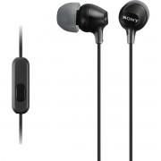 Sony MDR-EX15AP Fone de Ouvido Intra-Auricular com Microfone Preto