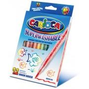 Carioci tip pensula 12 culori/set CARIOCA