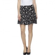 Tara Lifestyle short skirts with lining Regular Fit A-Line Skirts For Women's black 1001 (Free size)