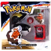 Pokemon TOMY Catch 'n' Train Poke Ball Landorus & Ultra Ball