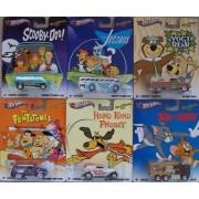 Hot Wheels Hanna Barbera Scooby-Doo, The Jetsons, Yogi Bear, The Flintstones, Hong Kong Phooey, Tom and Jerry set of 6 by Mattel