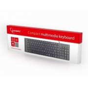 GEMBIRD KB-MCH-01 Chocolate Slim 22 mm Multimedialna tastatura US black USB