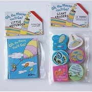 Dr. Seuss Oh the Places Youll Go! School Supply Set - Notebook and Erasers
