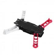 Empattement Kit de cadre en fibre de carbone Quadcopter 4 axes Enzo250 250mm - Red & White