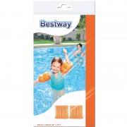 Oranje zwembandjes opblaasbaar 20 cm