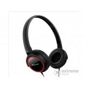 Căști Pioneer SE-MJ512-R, negru/roșu