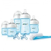 Philips Avent Natural Infant Baby Bottle Starter Set Blue
