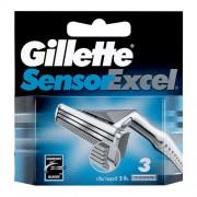 Gillette Sensor Excel 1Ks 10Pcs Replacement Blades Per Uomo (Cosmetic)