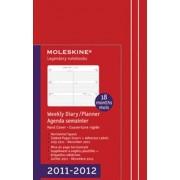 Moleskine Weekly Horizontal Red 18M Pocket (2011 - 2012)