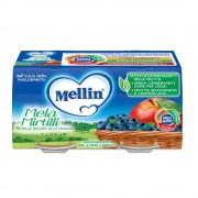 Mellin Omogeneizzato di frutta - Mela Mirtillo - Confezione da 200 g ℮ (2 vasetti x 100 g)