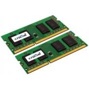 Crucial 16GB DDR3-1333 16GB DDR3 1333MHz módulo de - Memoria (DDR3, Portátil, 204-pin SO-DIMM, 2 x 8 GB, SO-DIMM, WEEE, REACH, RoHS)