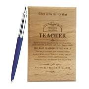 Natali™ Gift For Teacher - Parker Pen & Best Teacher Certificate