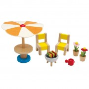 Hape E3460 Set patio per bambole