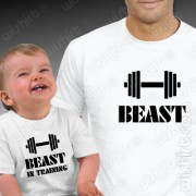 T-shirts Beast Training - Bebé