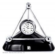 orologio da tavolo o scrivania pierre cardin su base nera