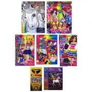 Lisa Frank Fun Gift Bundle #3- 7 Pieces Including Coloring & Activity Book Velvet Art Kit Glitter Art 2 Diva Sticker Dolls Skye 48 Piece Puzzle and Colored Pencils