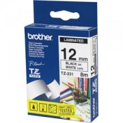 Ламинирана лента Brother TZ-231 Tape Black on White Laminated 12mm - Eco - TZE231