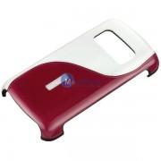 Husa plastic Nokia CC-3010 alba rosie Blister Originala