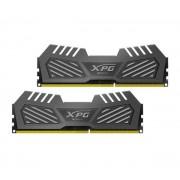 16 Go Barrette Mire (RAM) DDR3 XPG V2 PC3-19200 2400MHz kit (2x 8 Go) CL11 RAM pour gaming - Gris Tungsten