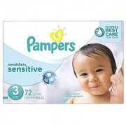 Pampers Swaddlers Sensitive Diapers Size 3 72 Count