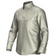 Maatoverhemd geel/blauw 55270