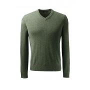 ランズエンド LANDS' END メンズ・ランズエンド・カシミヤ/Vネック/長袖(ライトスプルースヘザー)