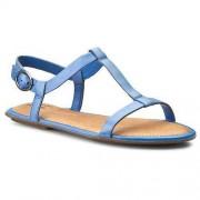 Clarks Sandały CLARKS - Risi Hop 261167594 Blue Leather