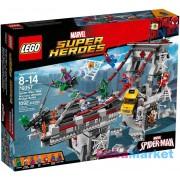 LEGO SUPER HEROES Pókember Pókháló-harcosok utolsó csatája a hídon 76057