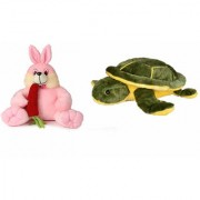 Deals India Bunny with carrot - 35 cm and Giant Turtle Soft Toy -25 cm