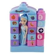 Tinee build a castle for the princess learning toy lego styled blocks for kids