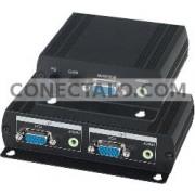 Extensor VGA + Audio Cat.5 (Emisor+Receptor) VE02AL