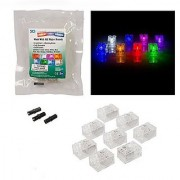 Light Up Building Bricks (2x3) - Multicolor (Different Color for Each Brick) - with On/Off and Dim Ability (Set of 8)