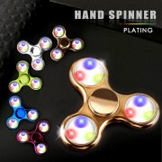 LED Light Fidget Spinner Finger Plastic EDC Flash Hand Spinner For Autism and ADHD Relief Focus Anxiety Stress Wheel Toys Gift