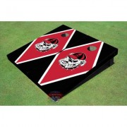 "All American Tailgate NCAA """"Hairy Dawg"""" Diamond Cornhole Board UGA-1610 Color: Red/Black"