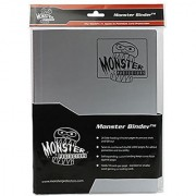 Monster Binder - 9 Pocket Trading Card Album - Matte Gunmetal Steel Grey (Anti-theft Pockets Hold 360+ Yugioh Pokemon Magic the Gathering Cards)