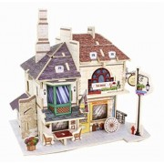 3 D Puzzle Educational Toy Diy 3d Stereoscopic Puzzle, British Red Tea House