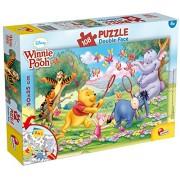 Lisciani Giochi 48007 - Winnie Pooh Puzzle Doppia Faccia Plus, 108 Pezzi
