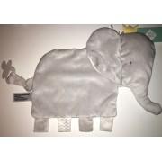 Doudou Éléphant Gris Play Attache Tétine Sucette Tex Baby