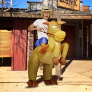 Inflatable Horse and Cowboy
