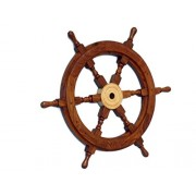 """Handcrafted Model Ships Deluxe Class Wood and Brass Decorative Ship Wheel 18"""" - Nautical Home Decora"""