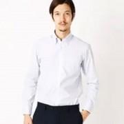 コムサイズム COMME CA ISM カラーが爽やか!釦ダウンで万能襟ストライプシャツ (サックス)