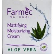 Farmec Natural Crema hidratanta matifianta cu aloe vera ten mixt sau gras (50 ml)