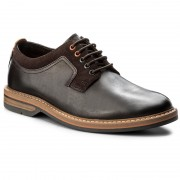 Обувки CLARKS - Pitney Walk 261205737 Dark Brown Leather