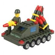 Magideal 128Pcs Educational Building Block Intelligence Kid Puzzle Toy Fire Arrow Car