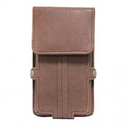 Jo Jo A6 Nillofer Series Leather Pouch Holster Case For Apple iPhone 4S 16GB Dark Brown
