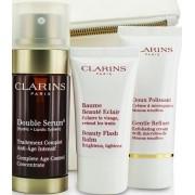 Clarins Double Serum 30ml + Gentle Refiner Exfoliating Cream 30ml + Beauty Flash Balm 15ml