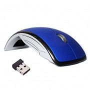 Technotech Wireless Mouse Foldable Folding Arc Optical Mice for Laptop Notebook PC - Blue