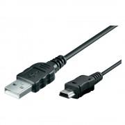 Cablu de date mini USB 1.5m 5 pini pentru aparate foto compacte si DSLR EOS 1D Mark II 5D 10D 20D 30D 40D 50D 60D 300D 400D 450D 50D 500D 550D 600D 650D 7D Powershot IXUS