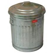 PATTUMIERA in metallo zincato AMERICAN STYLE - D.38 cm H 55